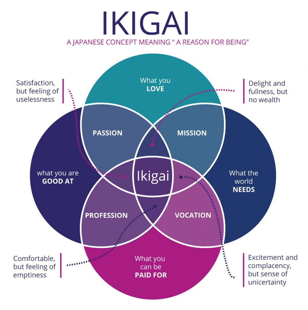 Ikigai framework that helps students to build their study plans